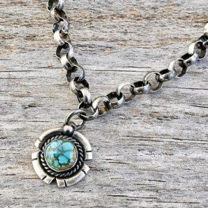 Santa Fe Marketplace Turquoise Charm Bracelet
