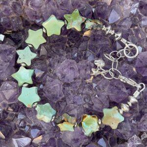 Santa Fe Marketplace Handcut Turquoise Star Bracelet