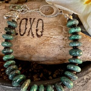 Santa Fe Marketplace Turquoise Disk Bead Bracelet